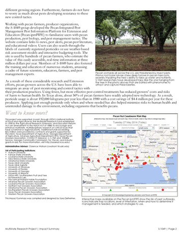 Managing Pecan Pests (S-1049 | 2010-2015)