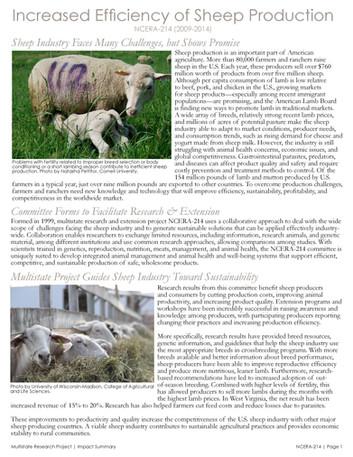 Improving Sheep Production (NCERA-214   2009-2014)