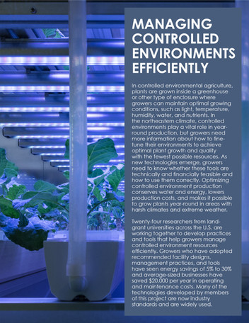 Managing Controlled Environments Efficiently (NE-1335   2013-2018)