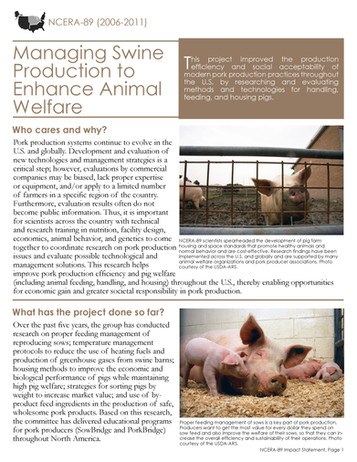 Enhancing Swine Welfare (NCERA-89 | 2006-2011)