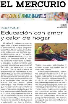 """Entrevista a DulceVale por """"El Mercurio"""""""