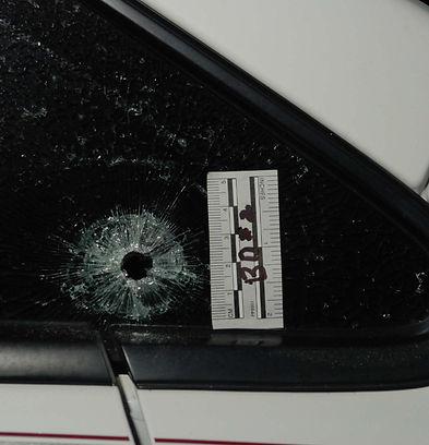 Bullet Strike Glass