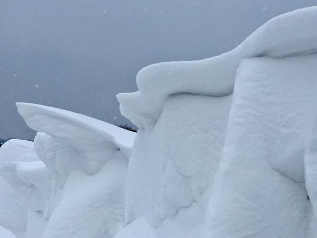 Snow drift - near Llanishen!