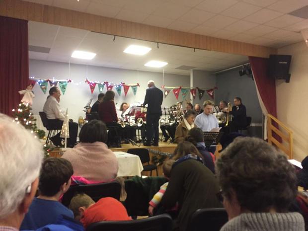 Monmouth Band playing at the Carol Service