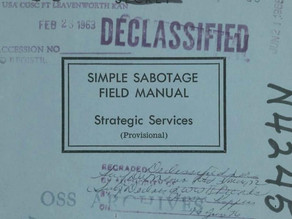 Simple Sabotage - Common Organizational Practices That Make Success an Uphill Fight