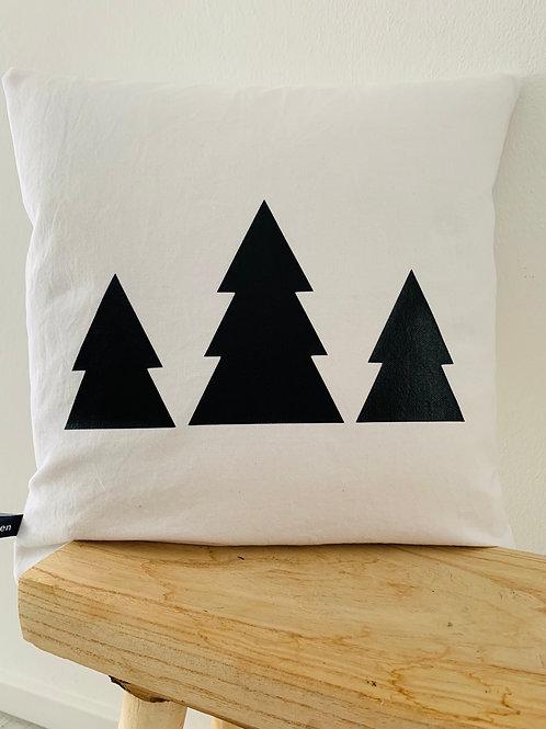 Kissenhülle Bäume im 3er Pack