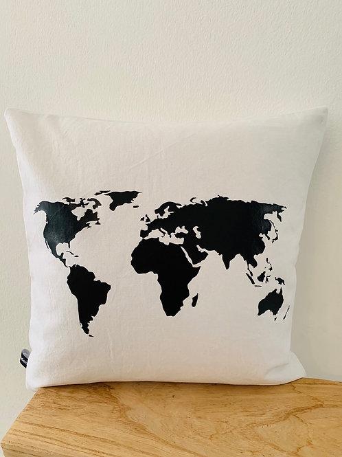 Kissenhülle -Weltkarte