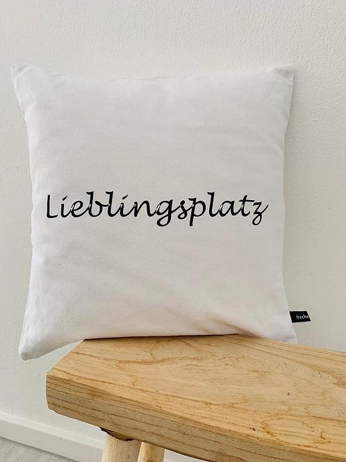 """Kissenhülle """"Lieblingsplatz"""""""