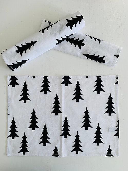 Tischsets -Tannenbäume