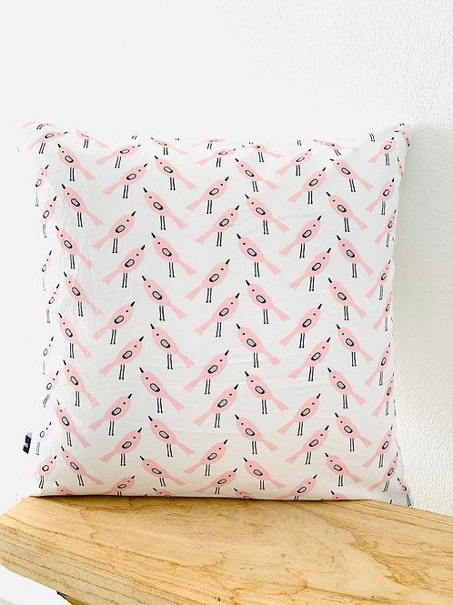 Kissenhüllen -rosa Vögel