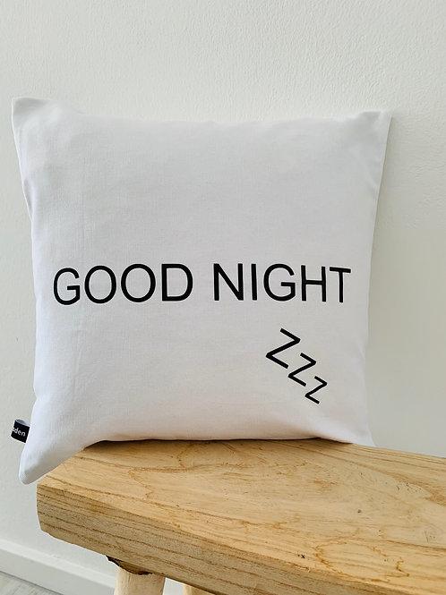 """Kissenhülle """"GOOD NIGHT"""""""