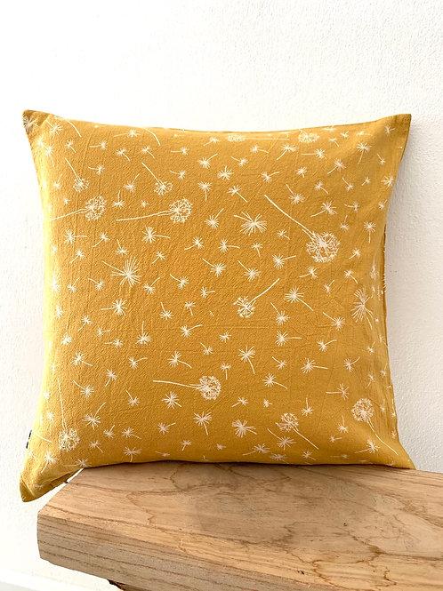 Kissenhülle -Pusteblumen Senf
