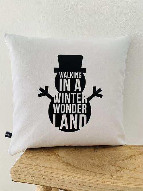 Kissenhülle -Snowman