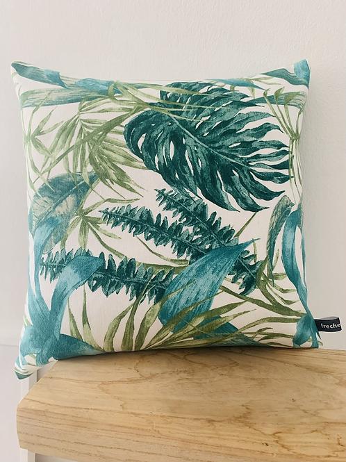 Kissenhülle - Blätter hellgrün