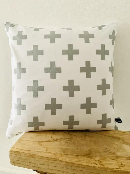 Kissenhülle - graue Kreuze
