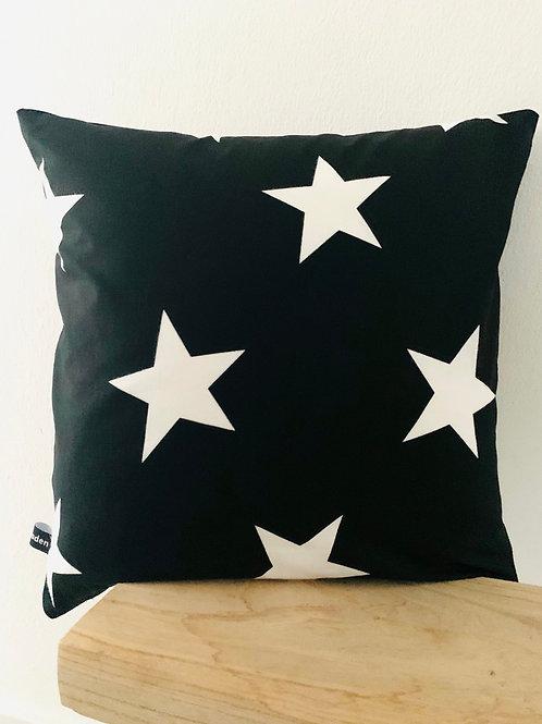 Kissenhülle -weiße Sterne