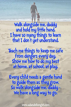 walk along sides me daddy poem