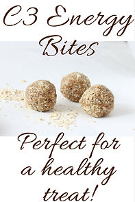 C3 Energy Balls in only 10 minutes! Chocolate, Coconut and Chia Seed, with kid friendly recipe.