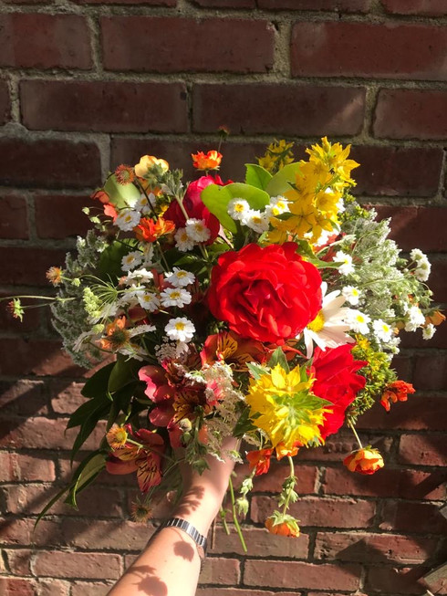 A rounded handtied bouquet