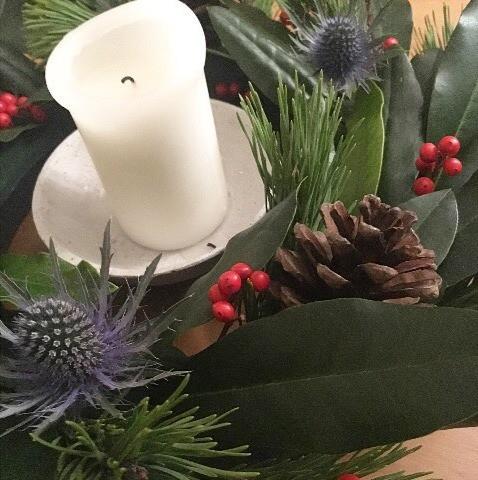 Christmas table centre-piece wreath