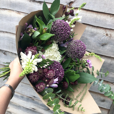 Gorgeous allium display