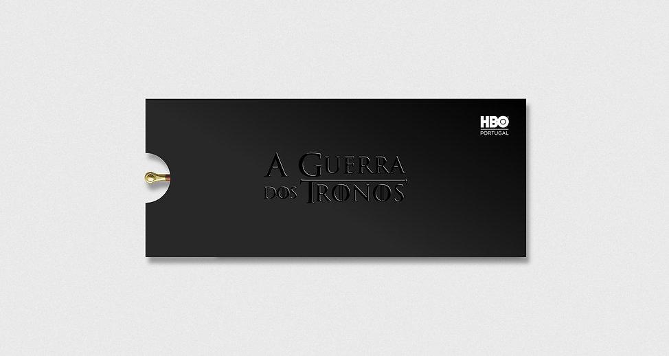 Design de Envelope para Convite - Guerra dos Tronos