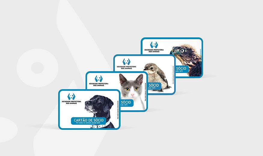 Design de Cartões de Sócio - Sociedade Protectora dos Animais