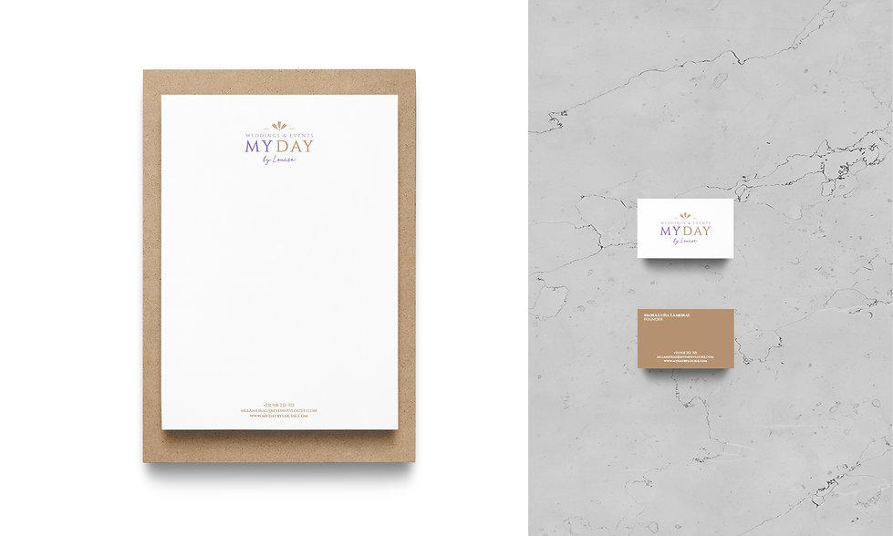 Branding e Estacionário - My Day by Louise