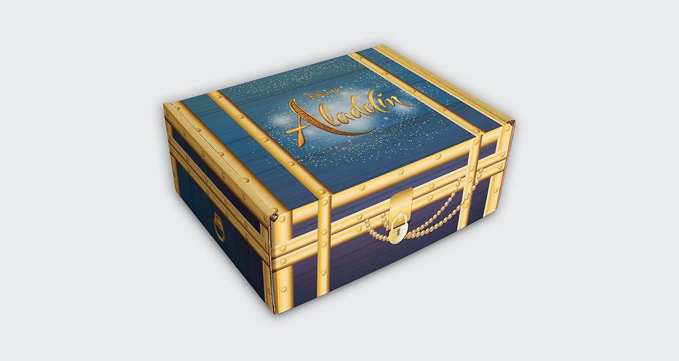 Design de Press Kit Aladdin Disney