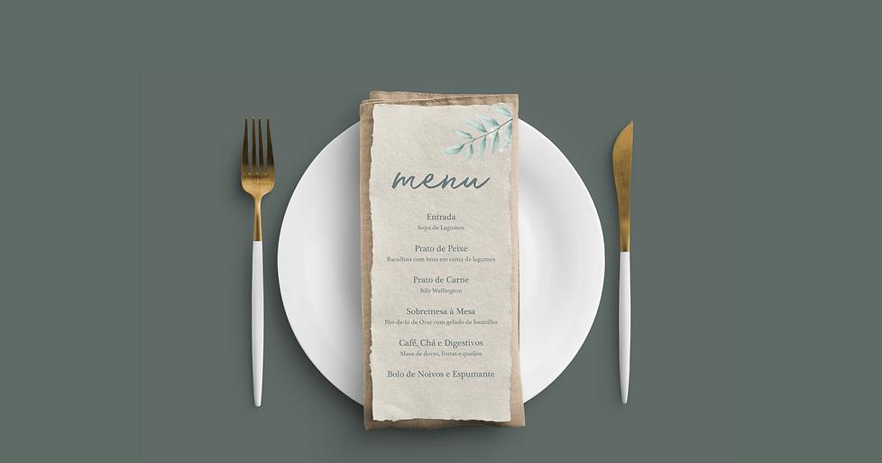 Design de Menu de Casamento