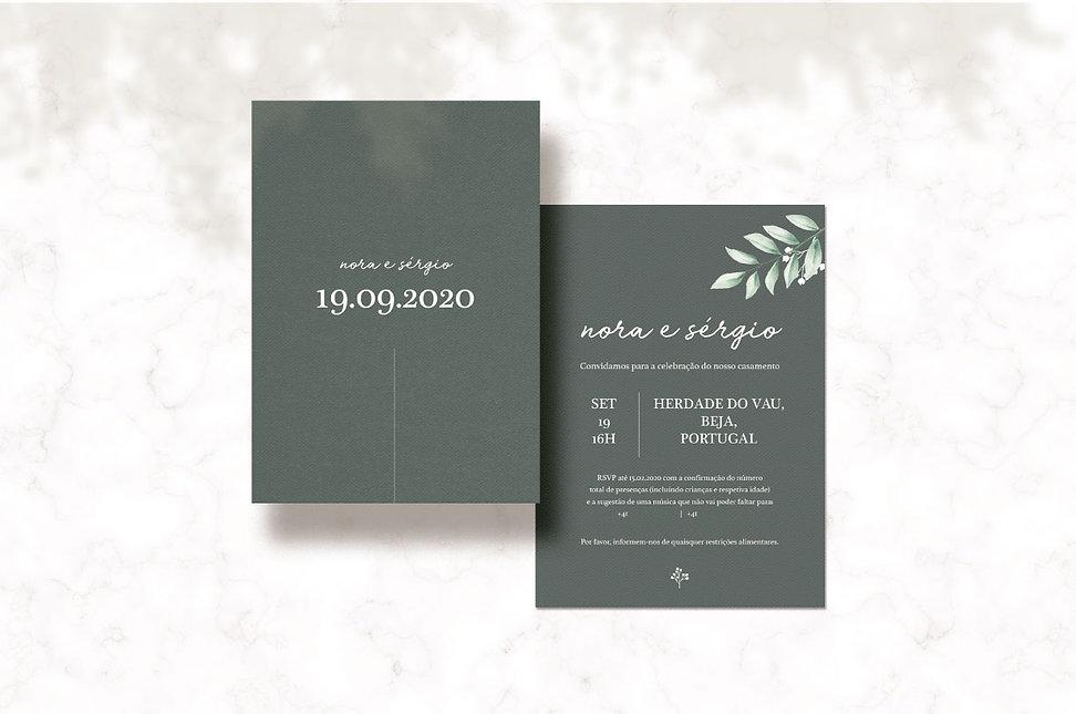Design de Convite de Casameno