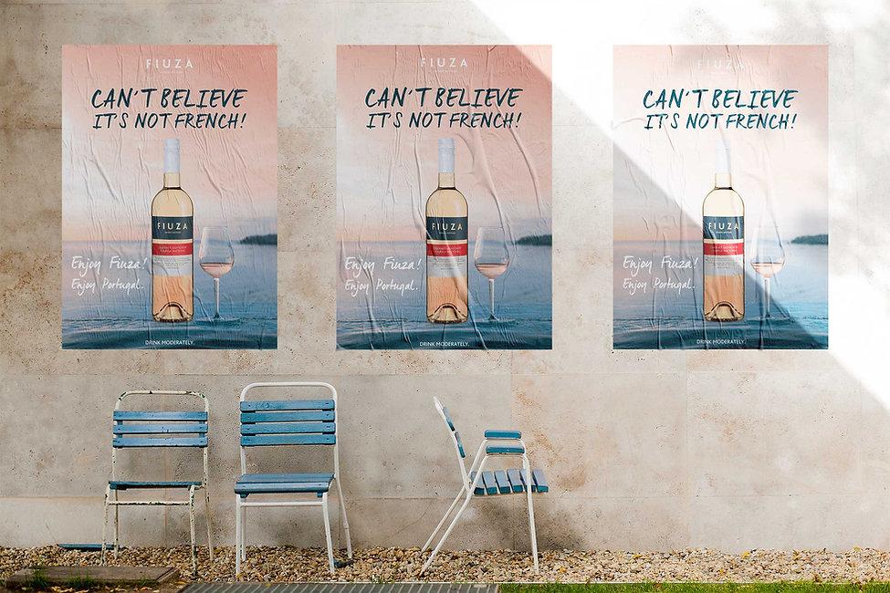 Design de Cartaz/ Poster Fiuza Wines Rosé