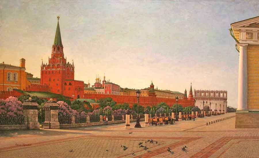 """""""Москва. Вид на Троицкие ворота"""""""