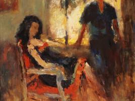 На Российском антикварном салоне впервые представлены картины Сергея Шлячкова (1956-2004).