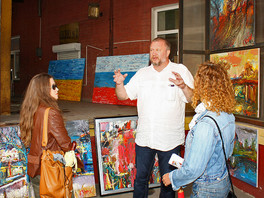 Художник Сергей Федотов принял участие в фестивале современного искусства «Форма» на новом столичном