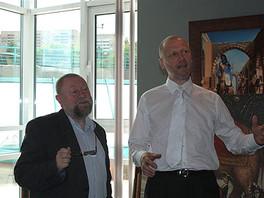 Галерею посетил известный польский профессор Ежи Бральчик.
