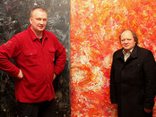 Deputy Director of The Pushkin Museum of Fine Arts Andrey Tolstoy on a visit to Sergey Fedotov`s