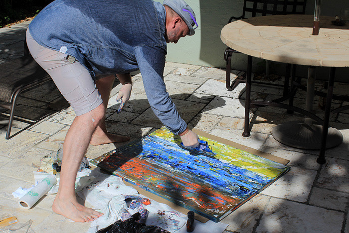 Artist Sergey Fedotov in USA