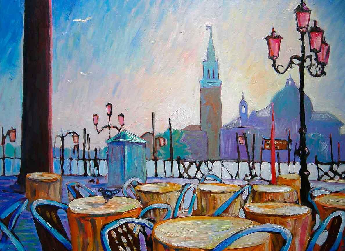 """""""Кафе на набережной. Венеция"""""""