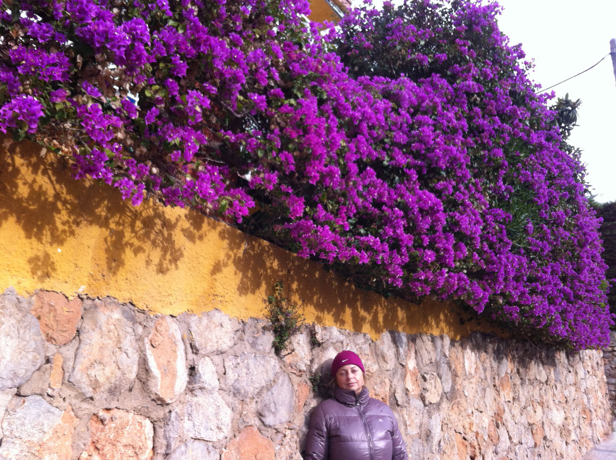 """Winter in Spain. Mama"""