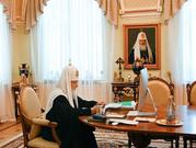 Портрет кисти Николая Шурыгина в интерьерах резиденции Патриарха Московского и всея Руси Кирилла.