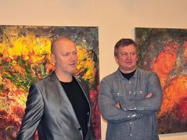 Инсталляция живописных полотен Сергея Федотова на открытии «Художественного центра на Саввинской» пр