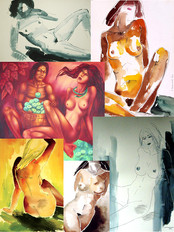 "We are happy to present an exclusive collection of paintings by artist Sergey MAXIMOV - ""NU&quo"
