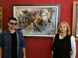 """Представители галереи встретились с художником Ильясом Айдаровым на его выставке """"Кино и не тол"""