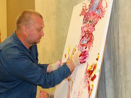 Сергей Федотов провёл мастер-класс живописи в Центре креативного обучения г. Уэст Палм Бич, США.