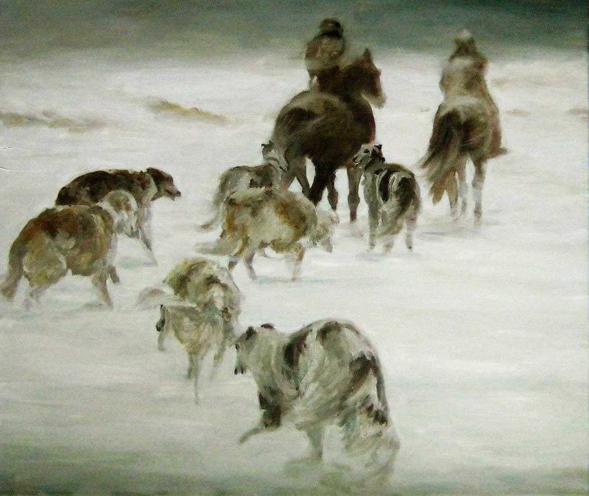 """Snowstorm. Hunting"""