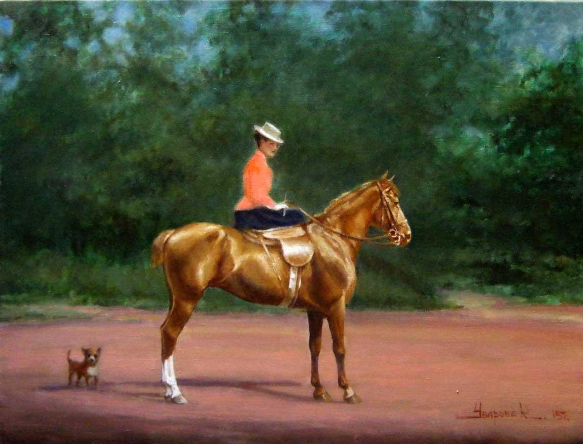"""Horsewoman"""