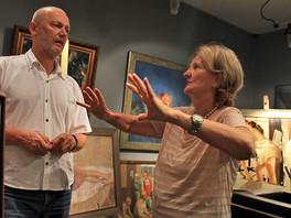 В галерее состоялась встреча с давним другом Любой Вучич.