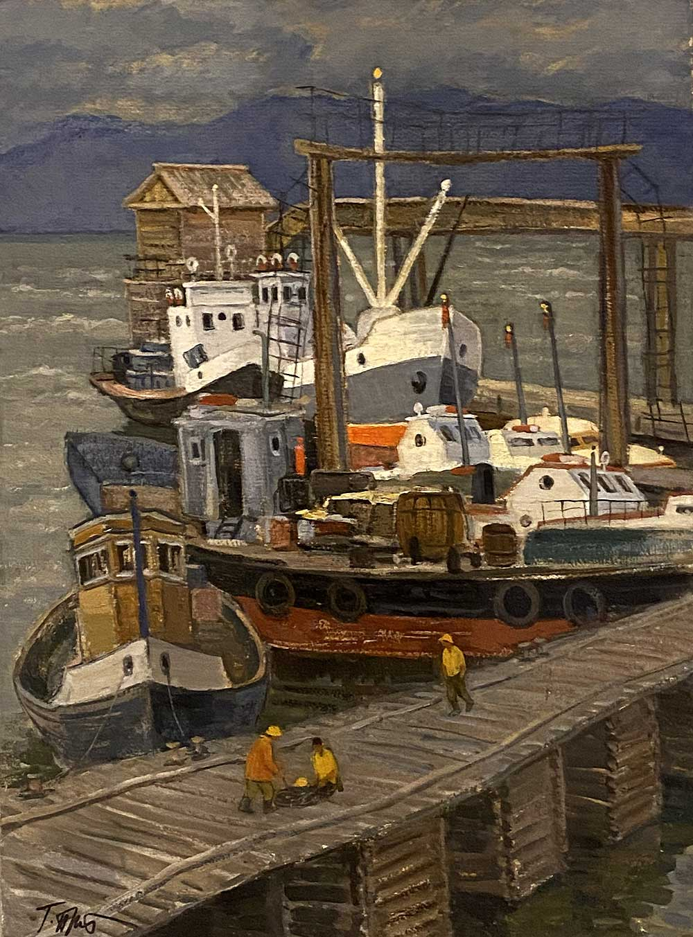 """Harbor on Baikal"""
