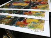 "Preparing prints of Sergey Fedotov's artworks for the ""ArtExpo 14"" (New York, USA)."